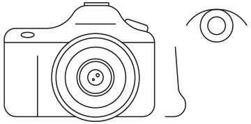 illustration of camera and eye