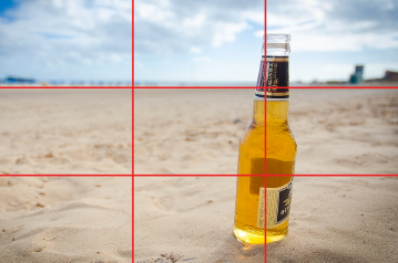 rule of thirds with beer bottle