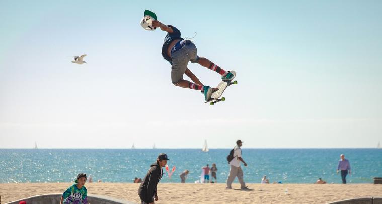 man jumping on skateboard
